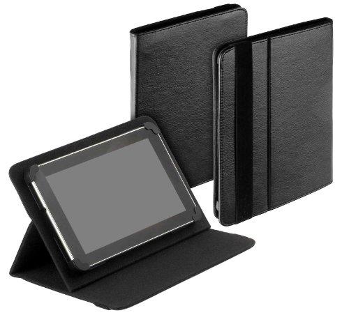 yayago Tablet Book-Style Tasche in Schwarz mit Standfunktion - Ultra Flach - für Medion Lifetab S7852 MD 98625