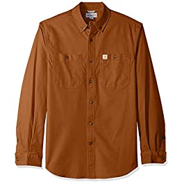 Carhartt Men's Rugged Flex Rigby Long Sleeve Work Shirt Utility Button