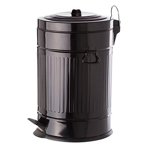 Papelera 20 litros industrial negro de acero de cocina Arabia - LOLAhome