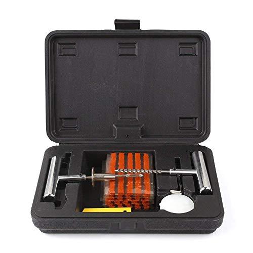 Secretdressing - Coffret 36 pcs - Kit de réparation pour crevaison Pneu - Outil Metal + 30 mèches - Tyre tubeless 4X4, remorque, Auto, Moto (Marron, Coffret 30 mèches)