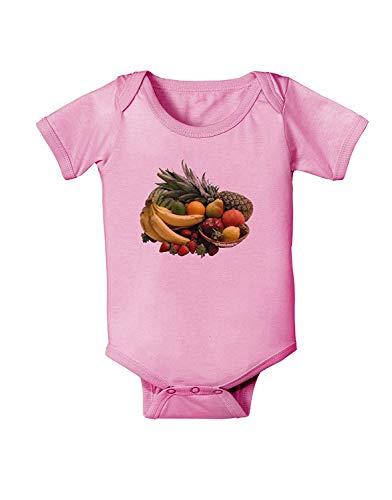 qidushop - Body para bebé, diseño de Cesta de Frutas, Color Rosa Blanco Blanco 12-18 Meses