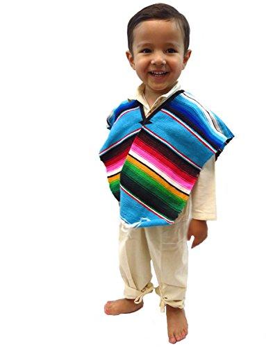 Leos Imports (TM Mexican Sarape Serape Boys Poncho (Ages 6-10)