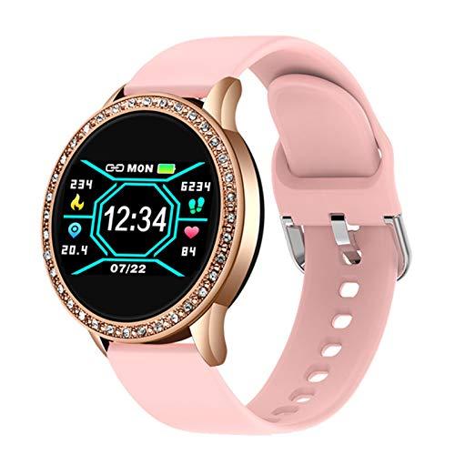 LJMG Reloj Inteligente, Relogio Bluetooth Deportes Impermeables, Ritmo Cardíaco, Presión Arterial, Calorías, Reloj De Fitness para Android iOS,C