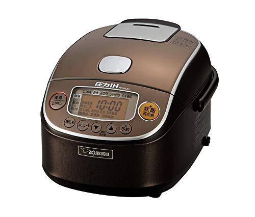 象印 炊飯器 3合 圧力IH式 極め炊き 黒まる厚釜 ブラウン NP-RL05-TA