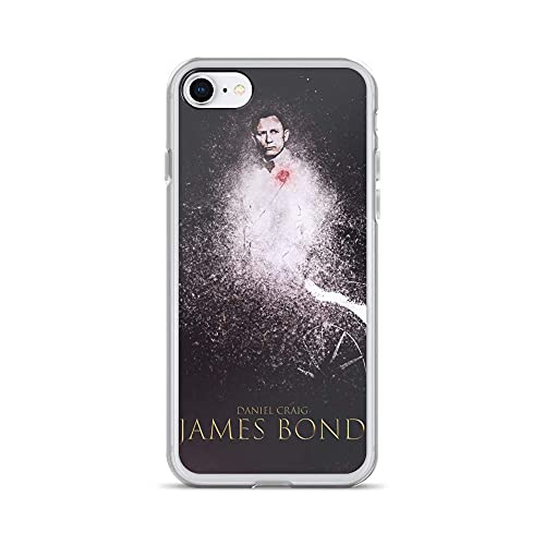 Funda Compatible con iPhone 12 Mini Case Anti-Scratch Motion Picture Transparent Cases Cover James Bond Skyfall Action Movies Video Film Crystal Clear
