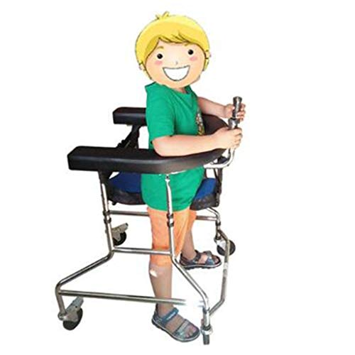 Rollatoren Walker Folding ist einfach zu tragen Old Cane kann eine Hand behinderte Walking Stand Einstellbare Übung Kinder Walker helfen (Color : Black, Size : 77-39cm)