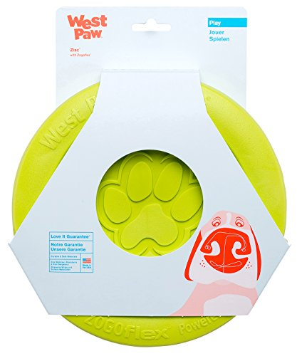 West Paw Zogoflex Zisc Durable Dog Frisbee Nearly...