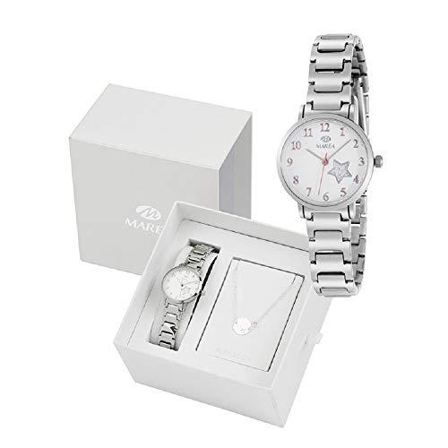 Conjunto Reloj Marea Niña B41248/5 Pulsera Plata de Ley