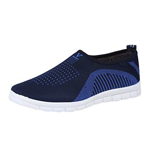 Sandalias Moda Mujer Color s/ólido de Verano Antideslizante Gimnasio Correr Zapatos Deportivos Malla de Tela de Velcro Zapatos Casuales Ligeros Zapatos Perezosos
