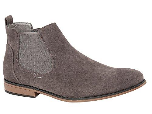 Foster Footwear Jungen Unisex Erwachsene Herren Damen Chelsea Boots,Grau,47 EU