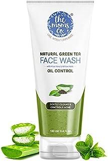 The Moms Co. Natural Green Tea Face Wash l Soap Free l Deep Cleanse l Controls Acne l Hydrates & Soothes l Green Tea l Alo...