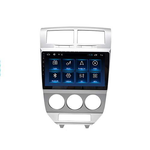 Foof 2 DIN Autoradio GPS Navigazione per Auto con Bluetooth 9'' IPS Touchscreen Supporta Android Auto Apple Carplay/Telecamera di Backup/DSP/Dab+/FM for Dodge Caliber 2007-2010