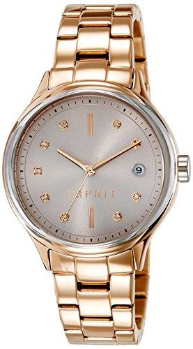 ESPRIT Damen Uhr Analog Quarz mit vergoldet Armband ES108552003