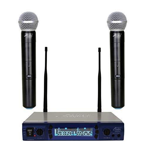 audio 2000s wireless headsets Audio 2000s AWM-6952U UHF Handheld 200 Frequencies Portable Wireless Microphone