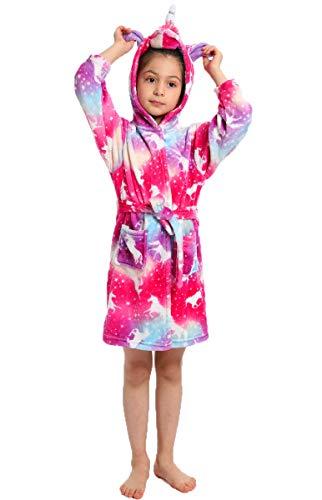Pengmai - Albornoz para niños y niñas, con capucha, ropa de noche, pijamas, vestido de dormitorio, toalla suave de 2 a 11 años S-style 1 160 cm