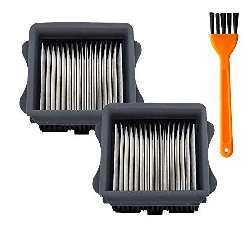 Lot de 2 filtres HEPA de rechange pour aspirateur Tineco iFloor 3/Floor One S3 sans fil Wet Dry et sans fil (2 filtres Hepa)