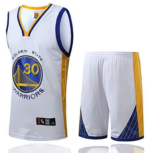 Regalos de los fanáticos 30#, Jersey de Baloncesto para Hombres Golden State Warriors # 30 Stephen Curry Traje Chaleco de Fitness Pantalones Cortos Balón de Entrenamiento Uniforme Ropa sin Mangas C