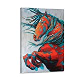 jingsheng Pferd Friesen-Poster Heimdekoration Gemälde