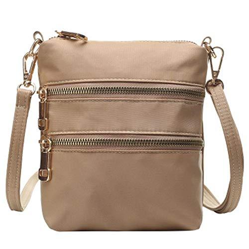 Oinna Bolso de mano para mujer, bolso de hombro ligero, bolso de viaje para mujer, bolso cruzado para mujer, bolso de hombro de alta calidad (caqui), color, talla 17*14*17cm