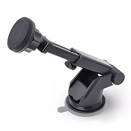 KISENG 2 in 1 Universal Magnetic Stand Suction Cup Car Air Outlet Holder Mount for iPhone Samsung Xiaomi HTC