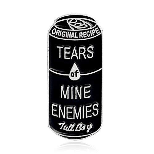 Pasadores de esmalte insignias latas bulbo clip de papel lágrimas de limón sombrío segador lágrimas lágrimas ataúd Ribcage broche de calavera Pin para mujeres hombres niños