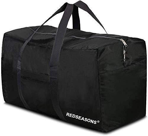 REDSEASONS Extra Large Duffle Bag Lightweight, 96L Travel Duffle Bag Foldable for Men Women, Black
