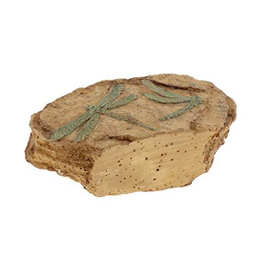 Backbayia Felsen-Dekoration, Kunstharz, quadratisch, Stein-Ornament für Aquarium, Fische