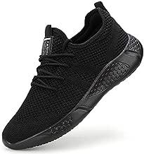 Damyuan Men's Athletic Walking Shoes Lightweight Gym Mesh Comfortable Trail Athletic Running Shoes Black,9.5