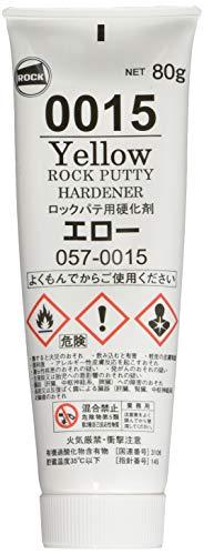 ロックペイント ロック金属用ポリパテ 硬化剤エロー 80g 057-0015-6A