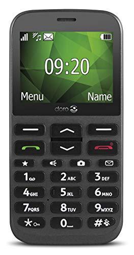 Doro 1370 GSM Mobiltelefon mit Kamera (3 MP, HAC, Bluetooth),anthrazit