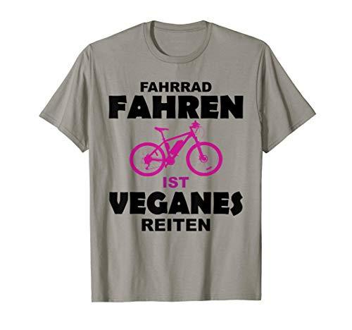 Fahrrad Fahren ist veganes Reiten | Shirt für Fahrrad Fahrer
