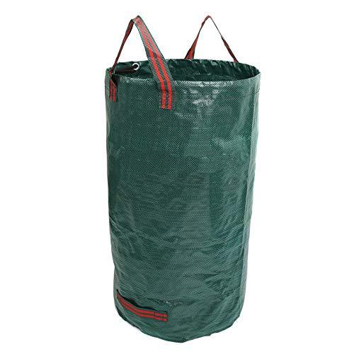 Cubo de basura plegable portátil para jardín, jardín, bolsa de compost, bolsa...