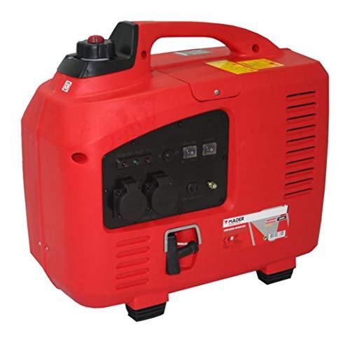 Mader Power Tools 63600 Generador Inverter Digital 2200W, Silencioso, con Pulsador de Reducción de Consumo