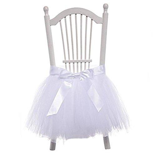 Jupe de chaise en tulle flocon de neige au pays des merveilles pour fête prénatale, fête de mariage, anniversaire, décoration d'intérieur, 45 x 45 cm (1 pièce), 2, 45 x 45 cm