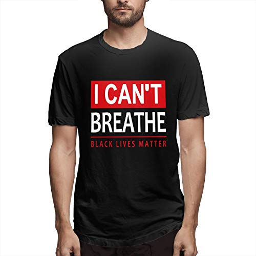 Yvonne M Pacheco I Can'T Breathe Black Lives Matter Men Short Sleeve Tee T Shirt Tees Casual(6x-Large,Black)
