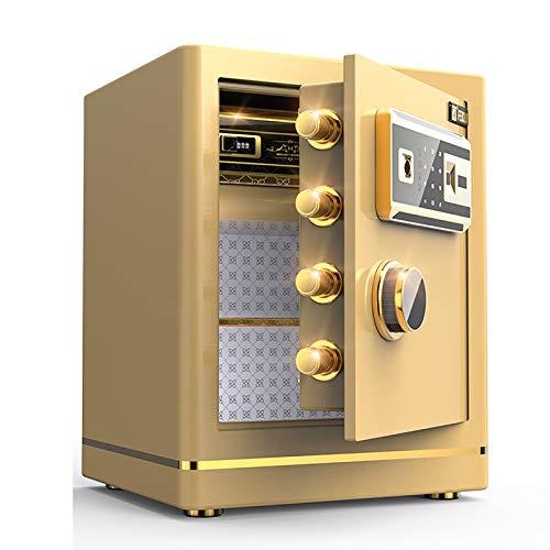 Huella Digital Contraseña Caja Fuerte de Seguridad Caja de Dinero de 45 cm Oficina en casa Armario de cabecera antirrobo Invisible Cajón de Acero con Cerradura antirrobo en el Armario