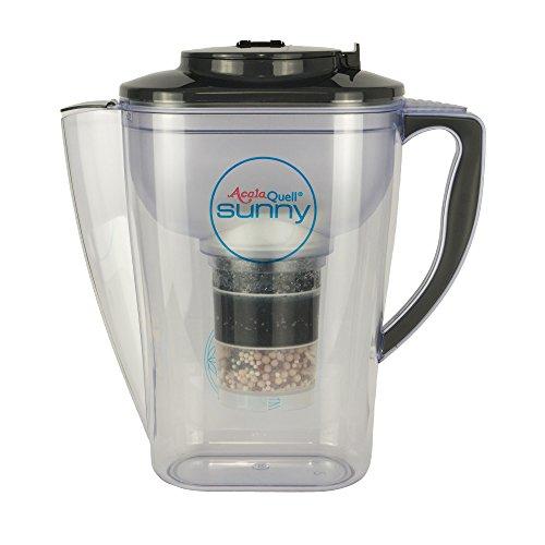 Wasserfilter AcalaQuell Sunny | Anthrazit | Kannenfilter - mit extra gutem Griff | Höchste Filterleistung -mehrschichtig | BPA u. BPB frei | ReNaWa® - Technology | Köstliches, wohltuendes Wasser