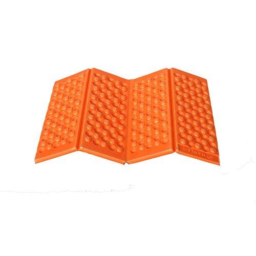 Fine Moisture-Proof Folding Cushion,EVA Foam Waterproof Chair Cushion Seat Pads Mat for Camping Hiking Park Picnic Sports Outdoor Activities (Orange)