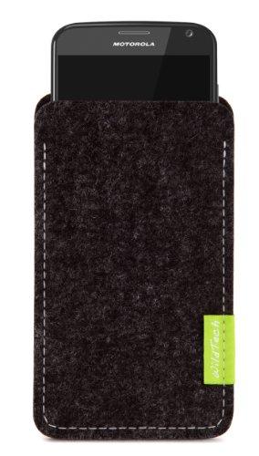 WildTech Sleeve für Motorola Moto G 2012 (1.Gen) Filz Hülle Tasche Case Cover - 17 Farben (made in Germany) - Anthrazit