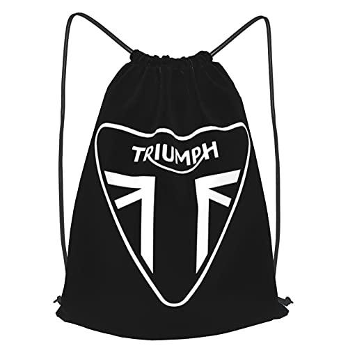 Triumph Borse Moto Con Coulisse Leggero per Uomini Donne Ragazze, Nero , M