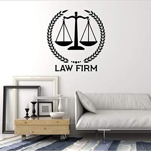 Anwaltskanzlei Logo Wandtattoo Waage der Justiz Gericht Waage Messe Innendekor Vinyl Tür Fenster Aufkleber Kreatives Wandbild 57X60 cm