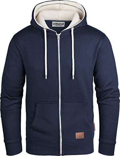 Grin&Bear GEC491 - Chaqueta con capucha para hombre azul marino M