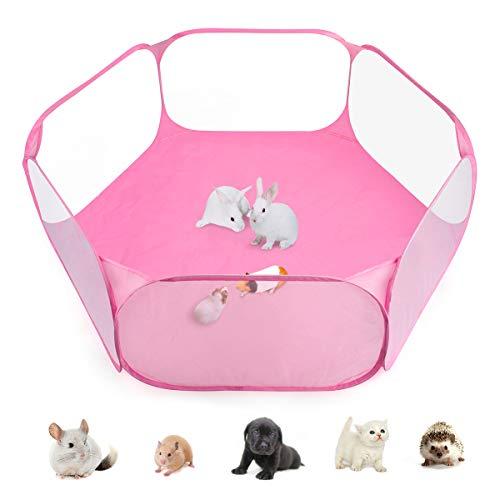 Casifor Haustier Laufstall für Kleintiere, für drinnen und draußen, Tragbarer Käfigzelt für Meerschweinchen, Kaninchen, Hamster, Chinchillas