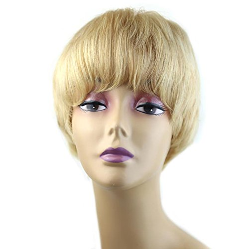 Kanuosi Kanuosi 5 Cute Short Pixie Wigs With Bangs Blonde Pixie Cut Wigs For White Women Human Hair Wigs Caucasian Wigs Short Straight Wig Beauty Personal Care Buy Online