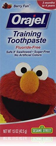 Orajel Toddler Training Toothpaste Berry Fun 1.50 oz (Pack of 3)