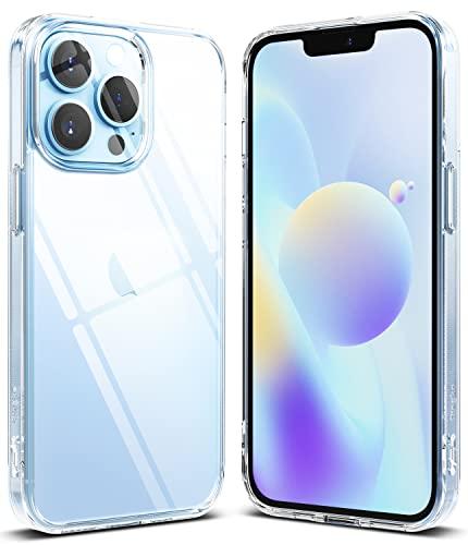 Ringke Fusion Compatible con Funda iPhone 13 Pro (2021) Carcasa Queda como un Guante, Case Transparente con Agujeros para Cuerda - Clear