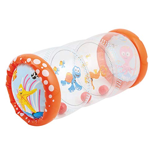LUDI - Baby roller'Mer' 40 x 25 x 20 cm dès 6 mois. Rouleau gonflable qui développe la motricité...