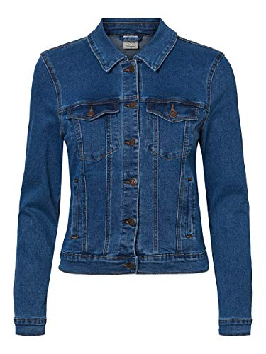 VERO MODA Female Jeansjacke Kurze MMedium Blue Denim