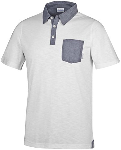 Columbia Lookout Point Novelty Polo Homme White/Collegiate Navy FR : M (Taille Fabricant : M)