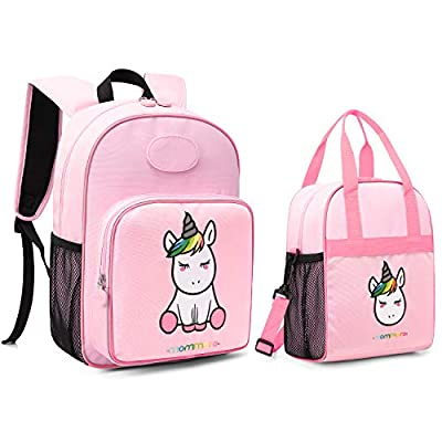 mommore Cute Unicorn Kids Backpack with Insulat...